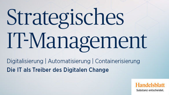"Clausmark as Partner at the 25th Handelsblatt Annual Conference ""Strategic IT Management 2019"""