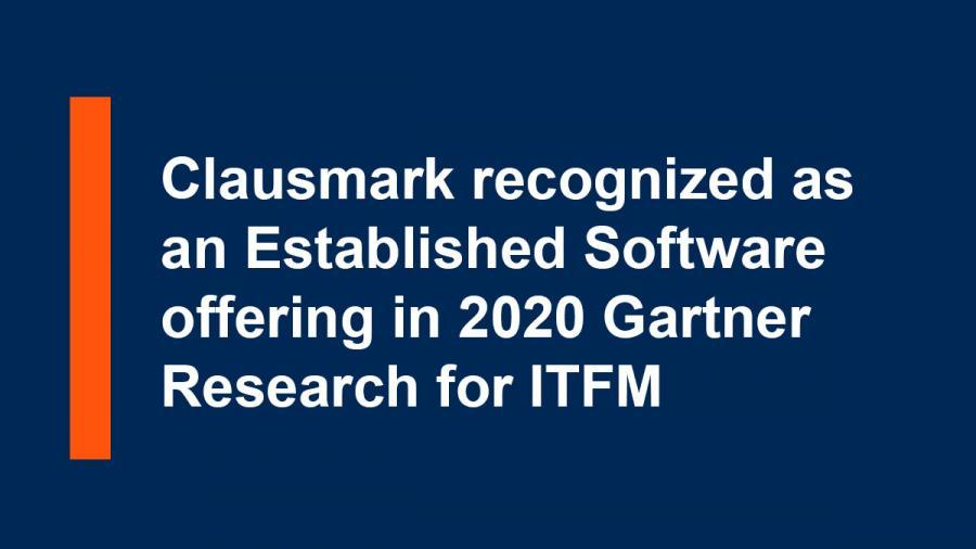 Clausmark recognized as an Established Offering in Gartner Research for ITFM