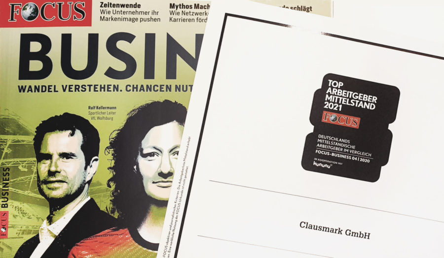 """FOCUS-Business names Clausmark one of the """"Top Employers for Medium-Sized Businesses 2021"""""""